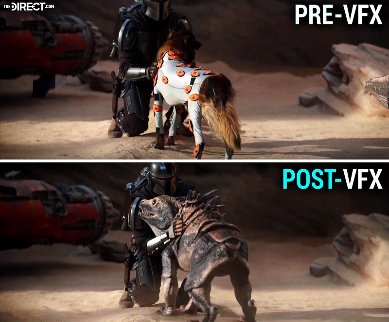 The Mandalorian VFX breakdown dog