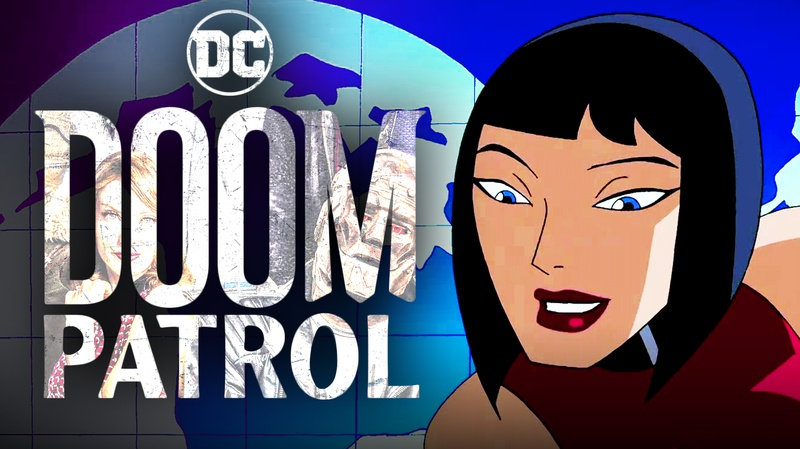 Doom Patrol logo, Madame Rogue