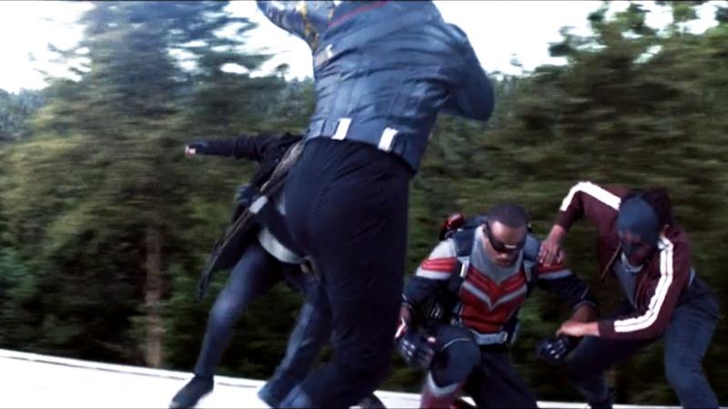 Falcon and Winter Soldier Fight Scene