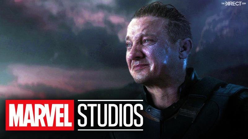 Jeremy Renner as Hawkeye, Marvel Studios logo
