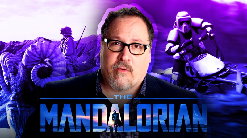 Jon Favreau and The Mandalorian scenes