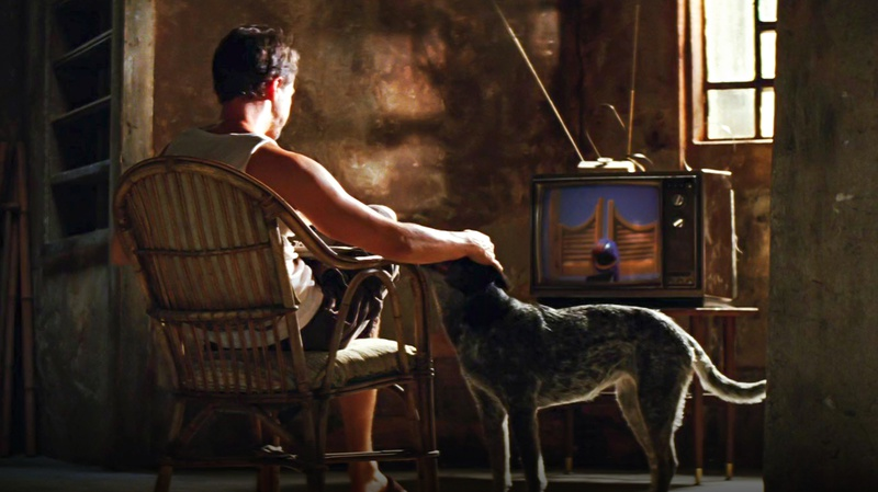 Bruce Banner with dog