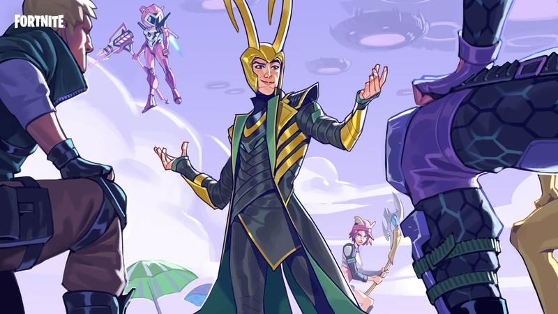 Loki's Welcoming Fortnite Loading Screen