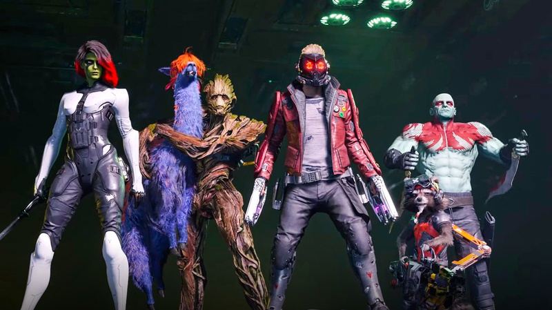 Guardians of the galaxy video game scene
