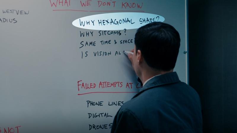 WandaVision Episode 4 Hexagon on Whiteboard