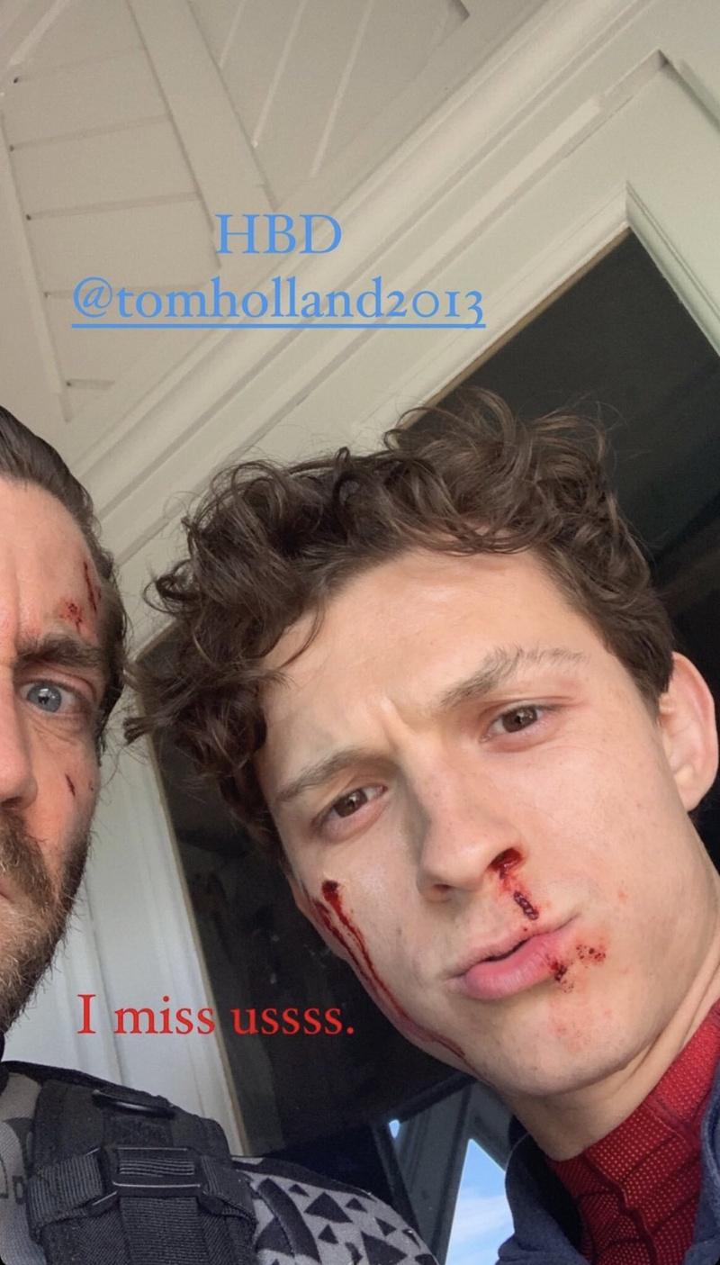 Tom Holland, Jake Gyllenhaal, birthday Instagram post