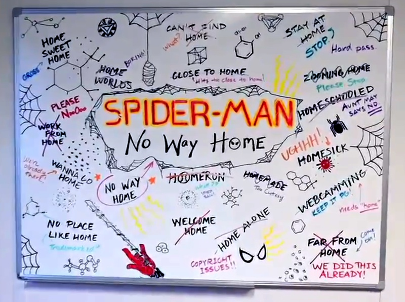 No Way Home Whiteboard