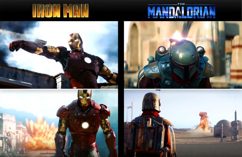 Iron Man Mandalorian comparison