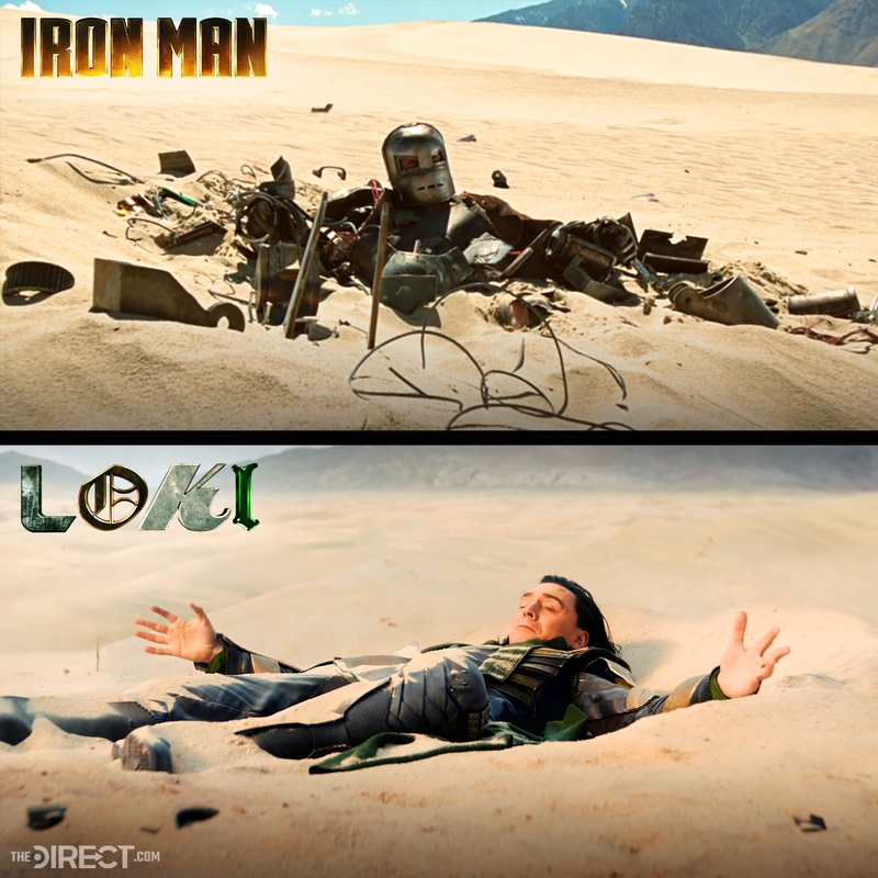 Iron Man and Loki scenes