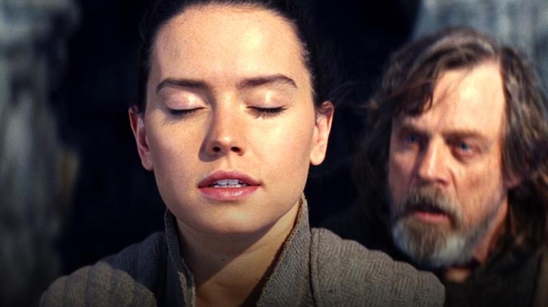 Rey Skywalker and Luke Skywalker