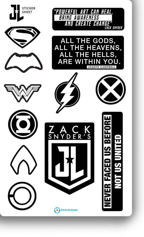 Justice League Stickers