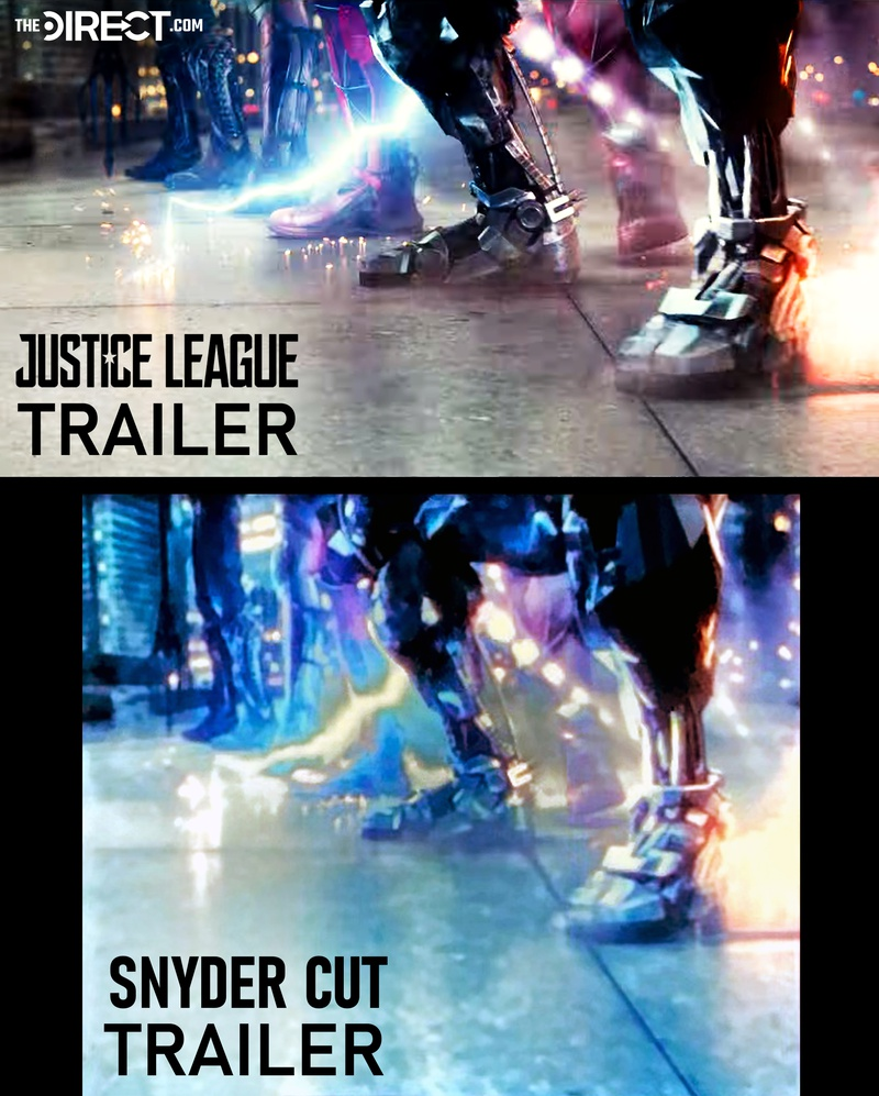 Justice league image above and Snyder Cut image
