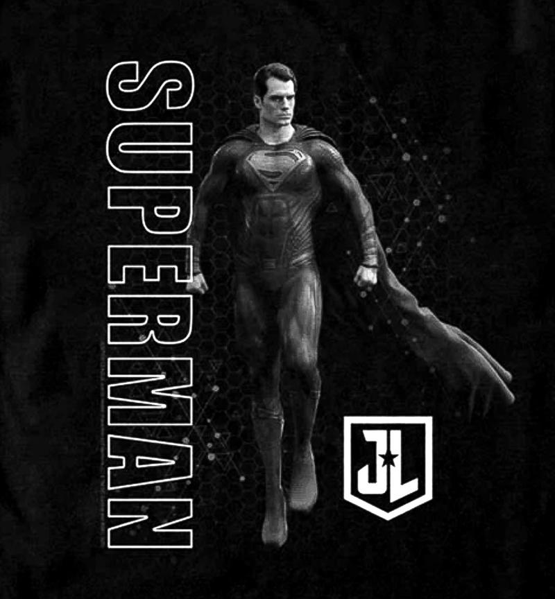 jlsupers - El traje negro de Superman tiene nuevo aspecto en camiseta oficial