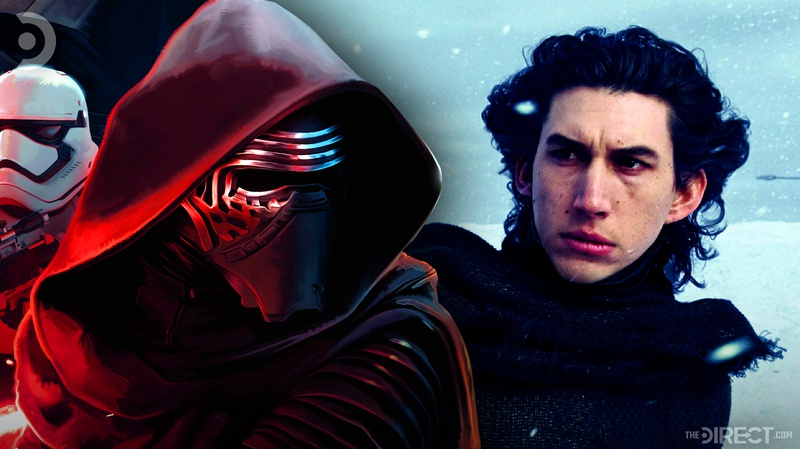 Kylo Ren and Adam Drive in The Force Awakens