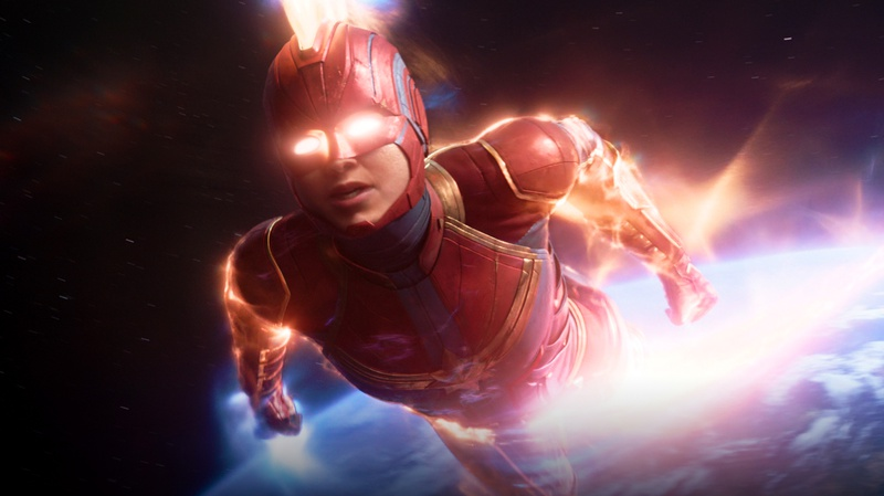 Captain Marvel Flying Suit
