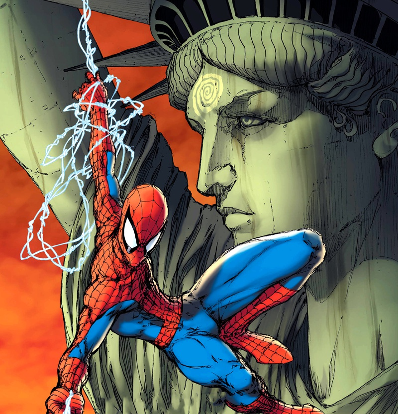 Spider-Man Statue of Liberty