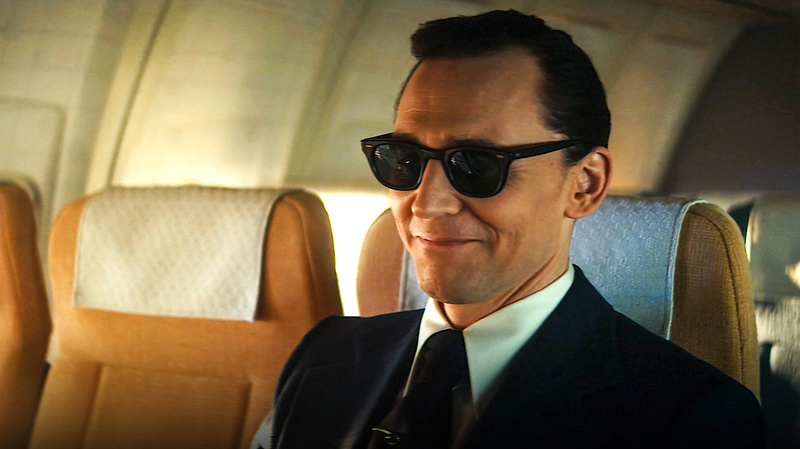 Loki on airplane