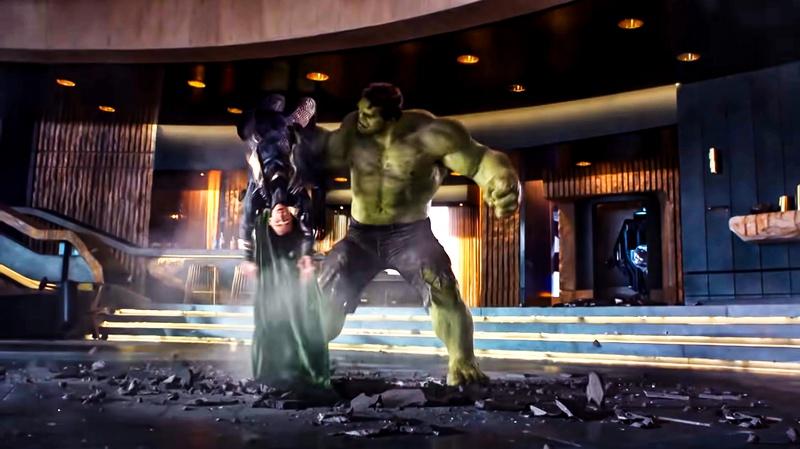 Hulk Loki Avengers Movie Fight