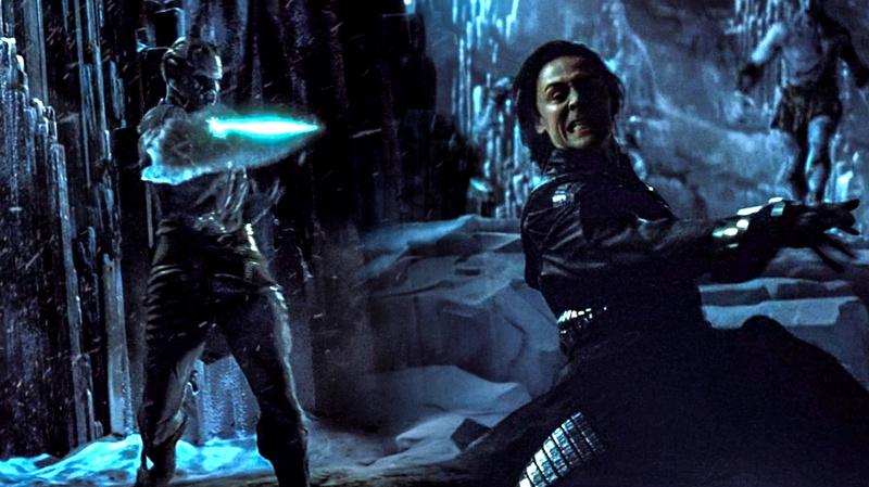 Loki Frost Giant Thor Movie Battle