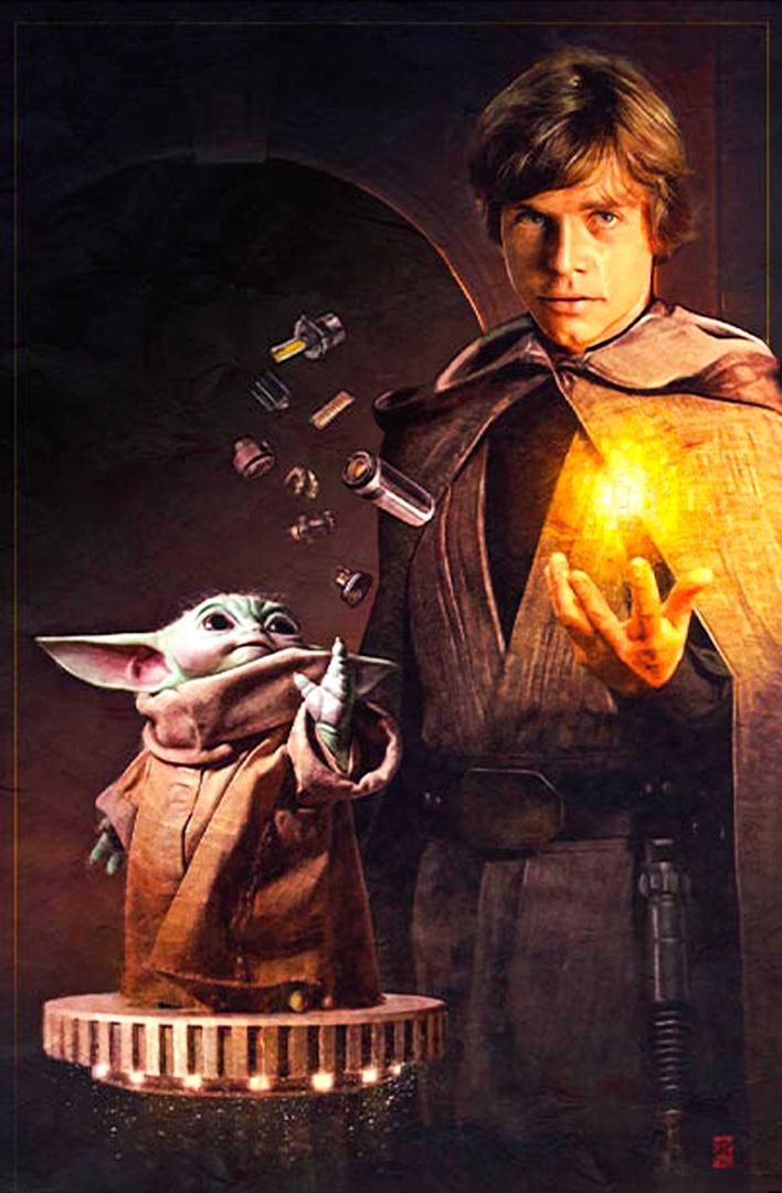 The Mandalorian o lo que viene siendo: Star Wars BIEN. - Página 18 Luke-skywalker-grogu