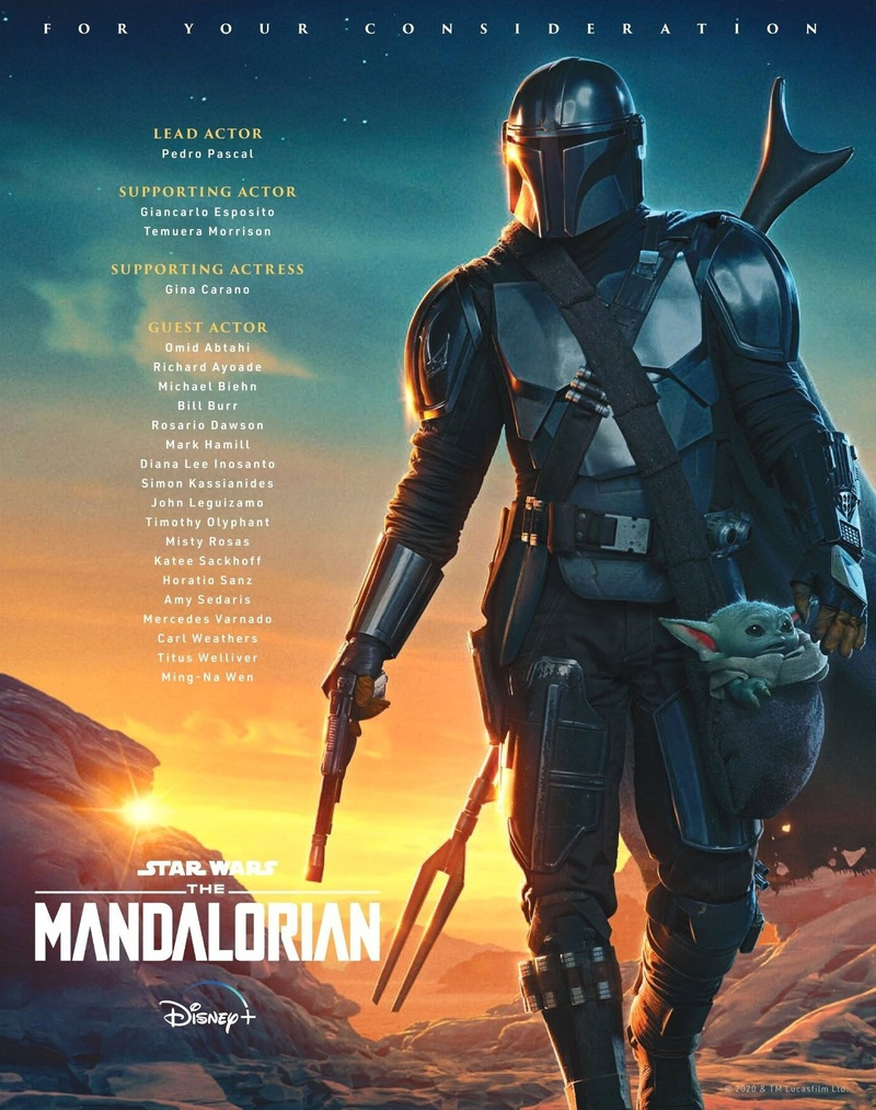 The Mandalorian Emmy Campaign Poster