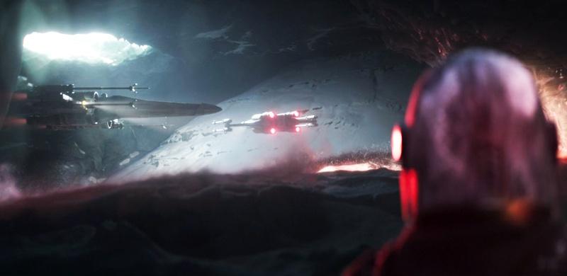 The Mandalorian scene X-wings