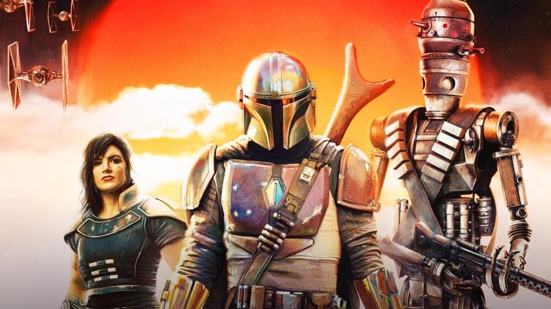 Cara Dune, Mandalorian, and IG-88 Poster