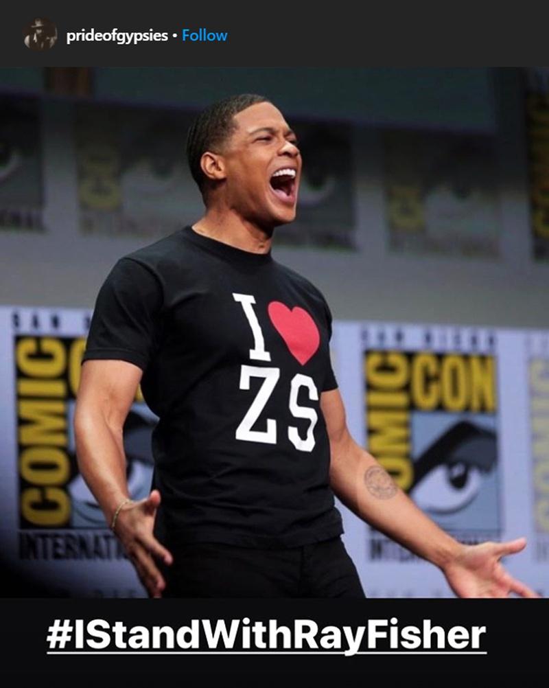 momoafisherig - Jason Momoa muestra su apoyo a Ray Fisher en la controversia de Warner Bros.