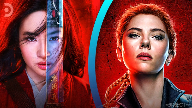 Mulan and Black Widow posters
