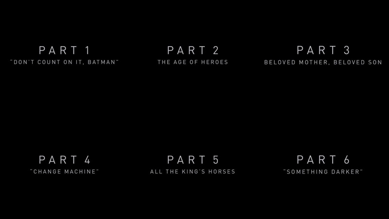 Justice League Snyder Cut Chapters