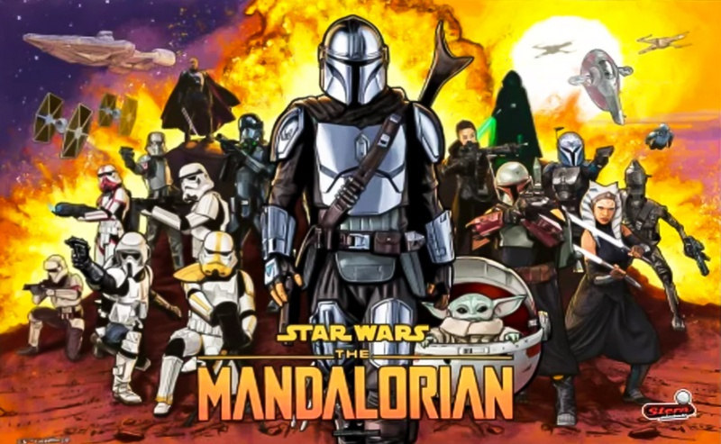 The Mandalorian Pinball Full Background Art
