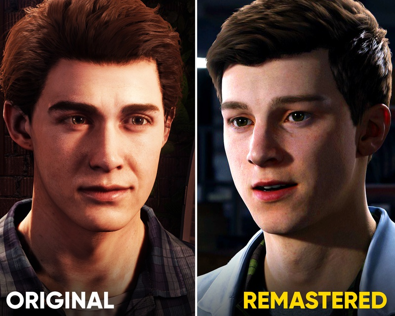 Spider-Man Comparison between PS4 and PS5