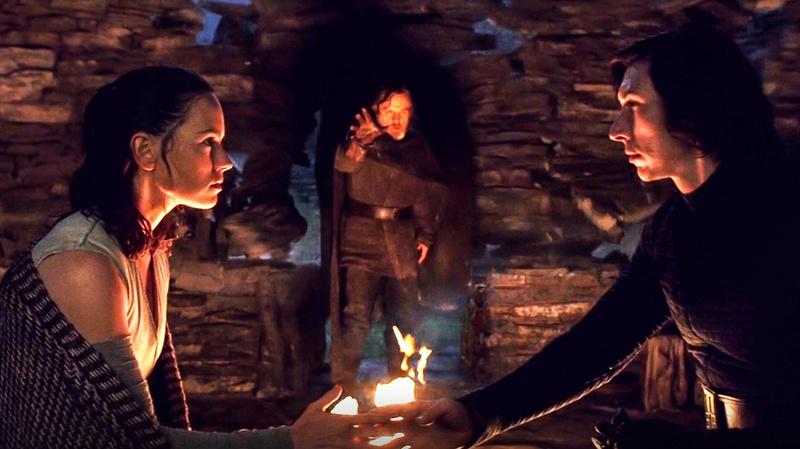 Rey Kylo Ren Holding Hands The Last Jedi