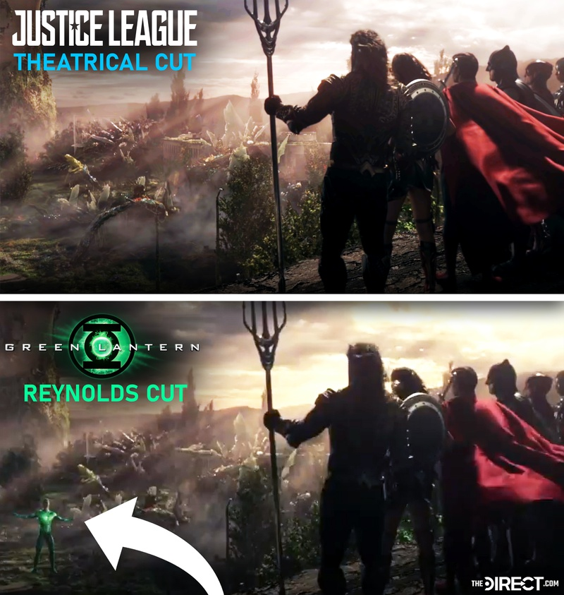 Justice League and Green Lantern comparison