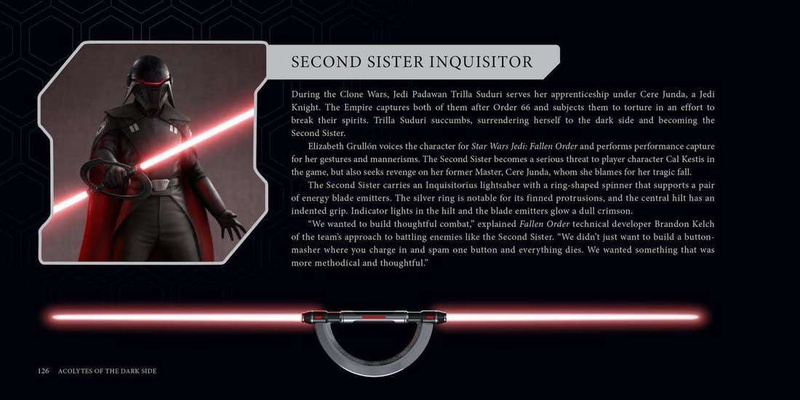 Second Sister, block of text, Second Sister's Lightsaber