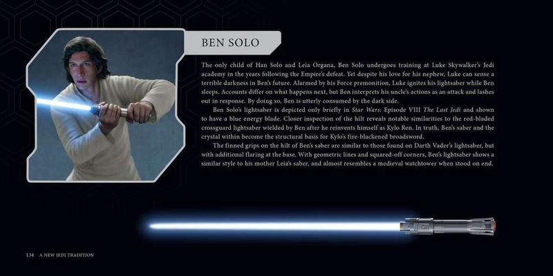 Adam Driver as Ben Solo, block of text, Ben Solo'slightsaber