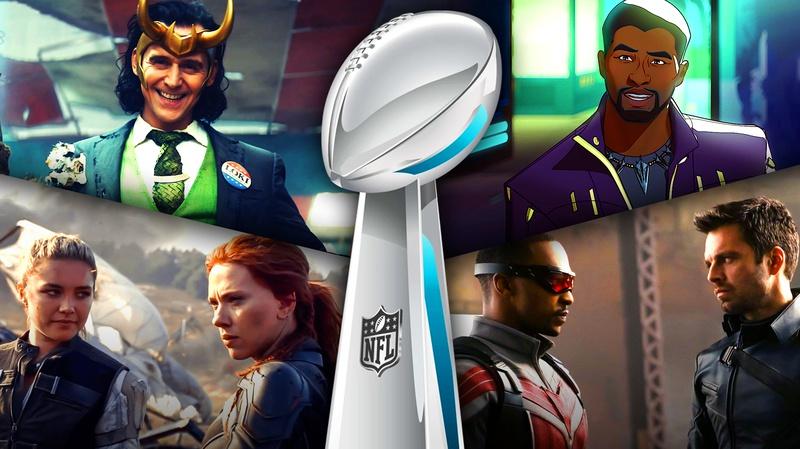 Super Bowl Loki Black Widow Black Panther
