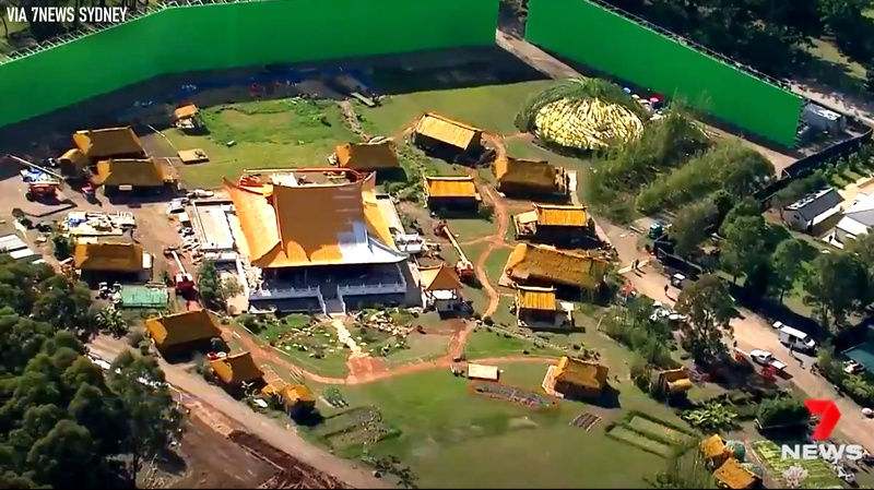 Closer look of aerial view of Shang-Chi set
