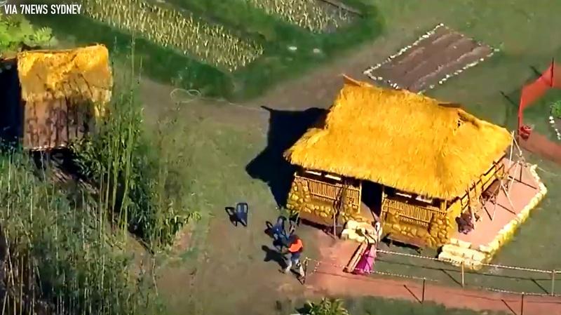 Closer look at house on Shang-Chi set
