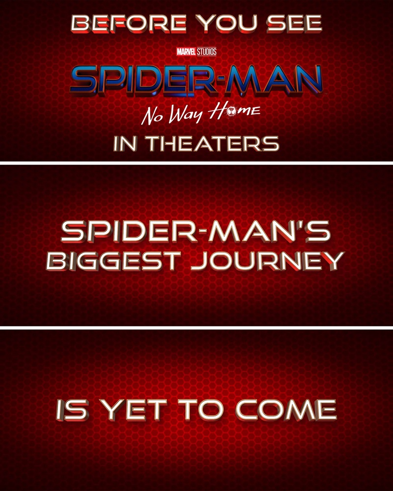 Spider-Man No Way Home Title Cards