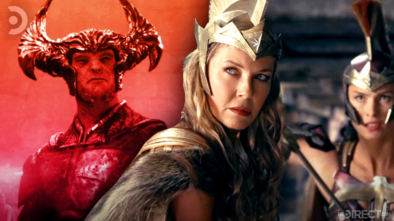 Steppenwolf and Amazonians in Justice League
