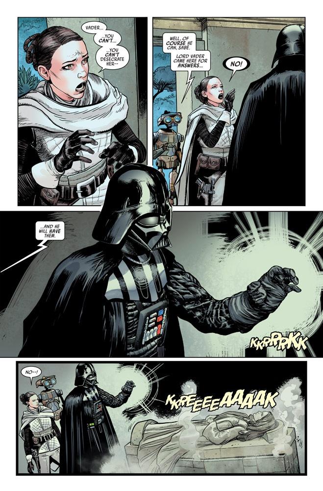 Marvel's Darth Vader # 5 Comic Panel