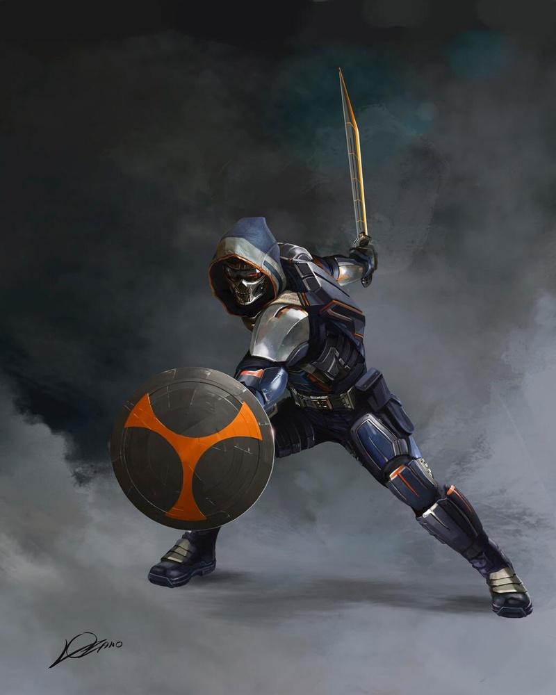 Taskmaster Black Widow art