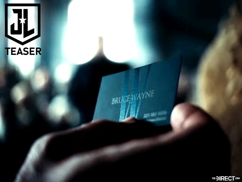Bruce Wayne business card in Justice League