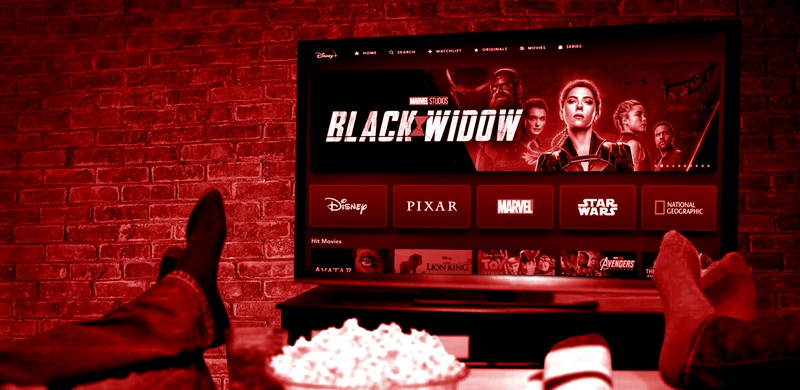 Black Widow on Disney+