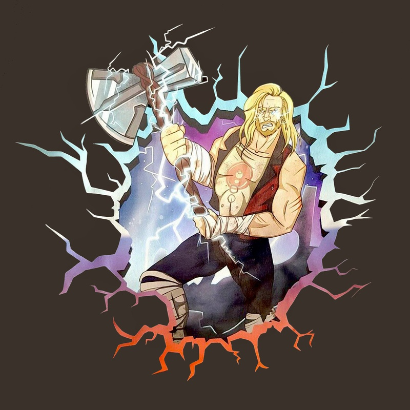 Thor Love and Thunder costume art