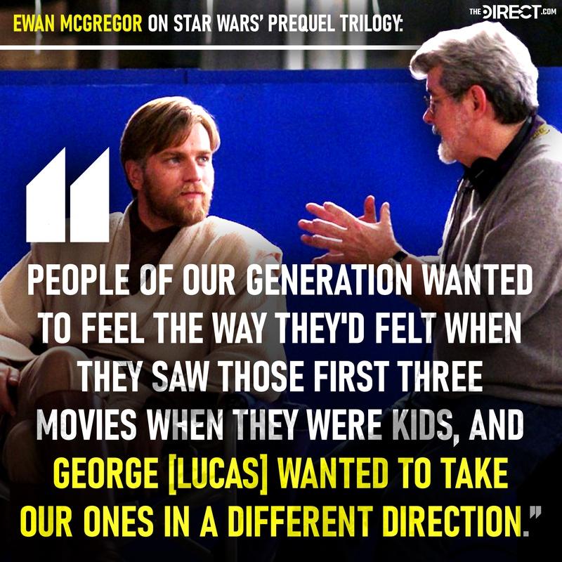 Ewan McGregor and George Lucas