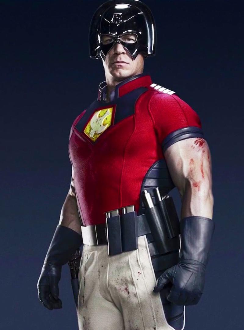 John Cena in costume as Peacemaker