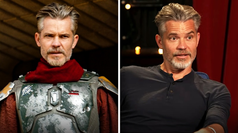 Timothy Olyphant's hair in The Mandalorian and on Conan are strikingly similiar