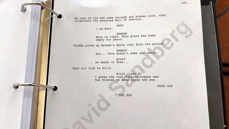 Shazam movie script